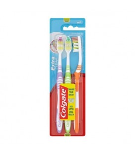 Brosse à Dents Extra Clean Colgate (3 uds)