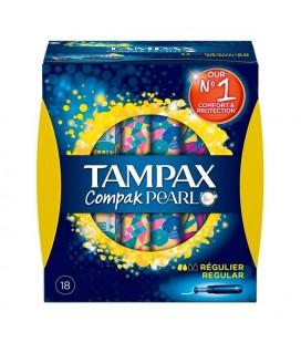 Tampons Réguliers Pearl Compak Tampax (18 uds)