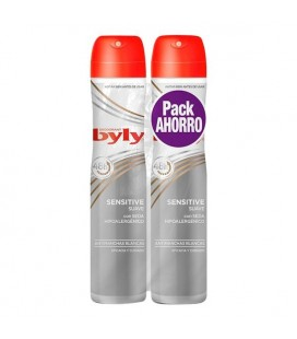 Spray déodorant Sensitive Suave Byly (2 uds)