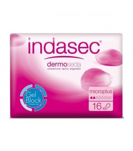 Compresses pour Incontinence Dermoseda Micro Plus Indasec (16 uds)