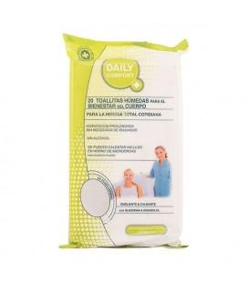 Lingettes Humides Hygiène Intime Daily Comfort (20 uds)