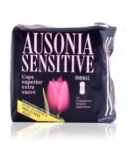 Compresses Normales sans Ailes Sensitive Ausonia (14 uds)
