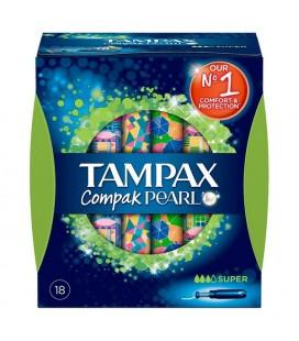 Tampons Super Pearl Compak Tampax (18 uds)