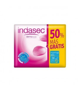 Compresses pour Incontinence Discreet Indasec (36 uds)