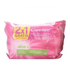 Lingettes Intimes Aloe Vera Carefree (2 pcs)