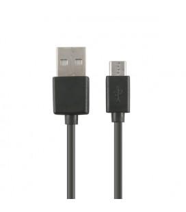 Câble de Données/Recharge avec USB KSIX Micro USB 1 m Noir