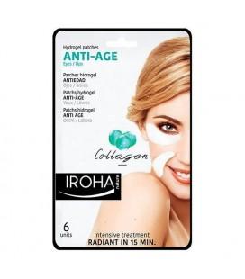 Patchs pour le contour des yeux Eyes & Lip Antiage Iroha (6 pcs)