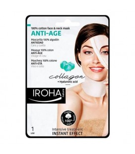 Masque revitalisant anti-âge Cotton Face & Neck Iroha