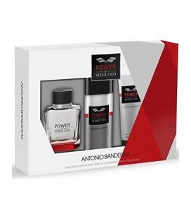 Set de Parfum Homme Power Of Seduction Antonio Banderas (3 pcs)