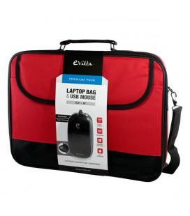 """Mallette pour Portable et Souris E-Vitta EVLB000301 15.4""""""""-16"""""""" Rouge Noir"""
