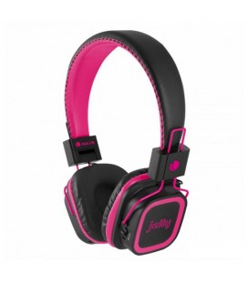 Casques Bluetooth avec Microphone NGS PINK ARTICA JELLY MicroSD Noir Rose