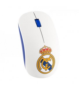 Souris Optique Sans Fil Real Madrid C.F. RMMOU001 USB Blanc