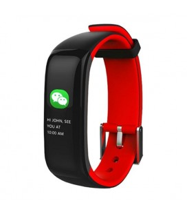 "Bracelet d'activités BRIGMTON BSPORT-15-R 0,96"""" OLED 150 mAh Bluetooth 4.0 Rouge"