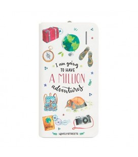 Power Bank Lovely Streets Mr. Wonderful LSPWB003 4000 mAh Avventure Blanc