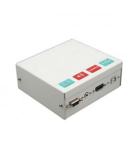 Boîte de Connexion pour Tableau Intéractif Traulux TCCB5M HDMI VGA 3,5 mm USB Métal