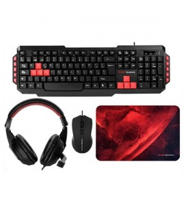 Pack Gaming Mars Gaming MRCP1 (4 Pcs) Noir Rouge