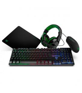 Pack Gaming BG BGX4PCK (4 Pcs) Noir Vert