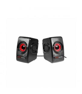 Haut-parleurs pour jeu Mars Gaming MRS0 10W Noir
