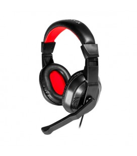 Casques avec Micro Gaming Mars Gaming MRH0 Noir Rouge