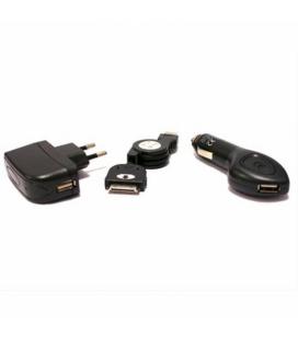 Chargeur Universel 3 en 1 Iphone 3, 3gs, 4, 4s KSIX Micro USB USB Noir