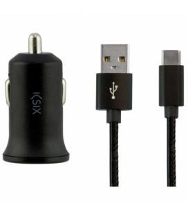Chargeur de voiture KSIX BXCRC04 USB-C Noir