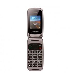 """Téléphone portable pour personnes âgées Thomson 223169 1,8"""""""" SMS USB Bluetooth Dual SIM Noir"""