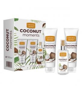 Ensemble de Soin Personnel Coconut Moments Natural Honey (3 pcs)