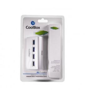 Hub USB CoolBox COO-HU4ALU3 Aluminium (4 ports)