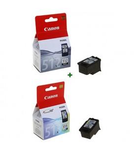 Cartouche d'Encre Originale (lot de 2) Canon PG512+CL513 (2 pcs) Noir/tricolore