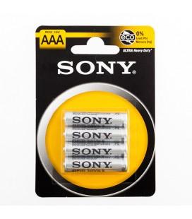 Piles Salines Ultra Sony R03 AAA d'1,5V (pack de 4)