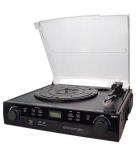 Tourne-disque + Enregistreur Cassette BRIGMTON BTC-406REC USB SD / MMC